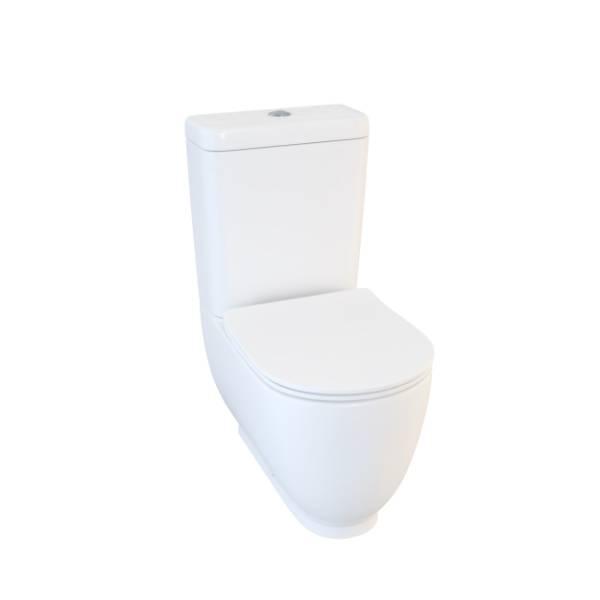 Designer Series 4 close coupled WC set including soft close seat