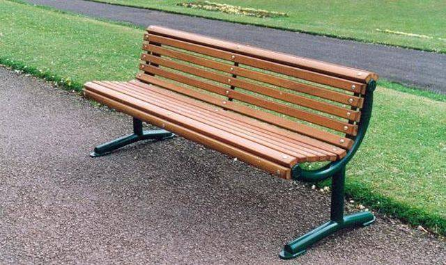 Ollerton Festival Straight Seat with Hardwood Slats