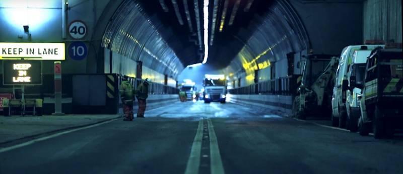 Tunnel beneath the Mersey