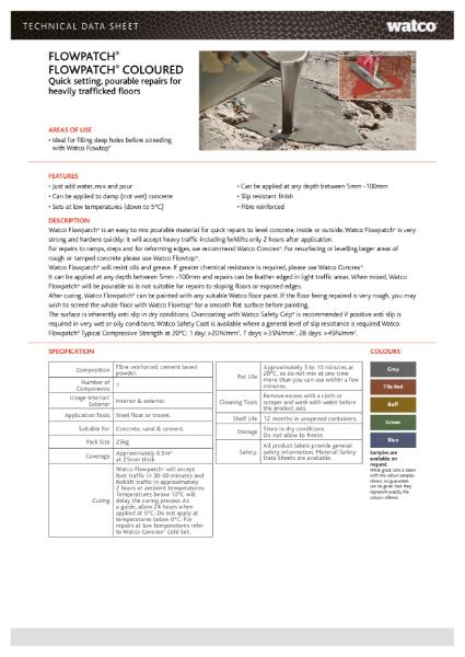 Data Sheet: Flowpatch Range