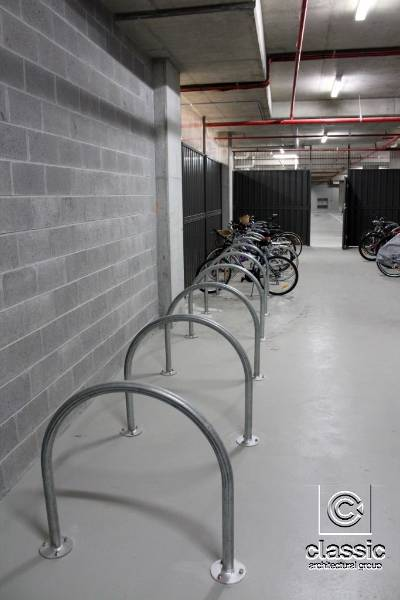 Hoop and Flat top bike racks