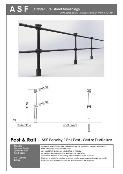 ASF Berkeley 2 Rail Post and Rail