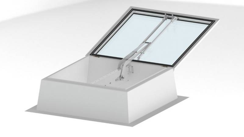 Smoke Lift Glass Skylight F100