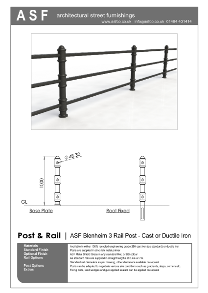 ASF Blenheim 3 Rail Post and Rail