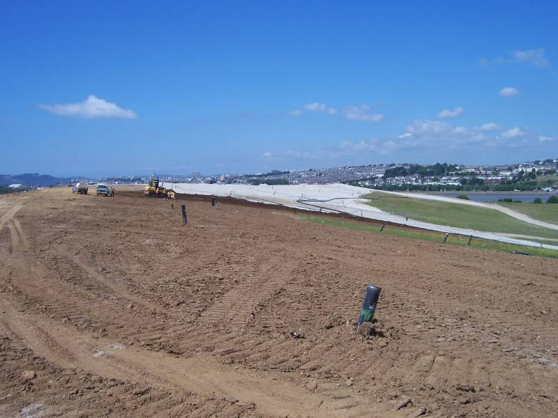 Landfill Cap Drainage & Gas Venting - Pozidrain, Chelson Meadows, Landfill Site, Plymouth, UK