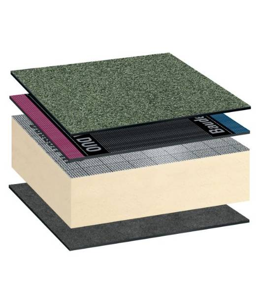 Bauder Total Green Roof System Reinforced Bitumen Membrane Warm Roof Covering System Self-Adhered (with Torch-On Capping Sheet)