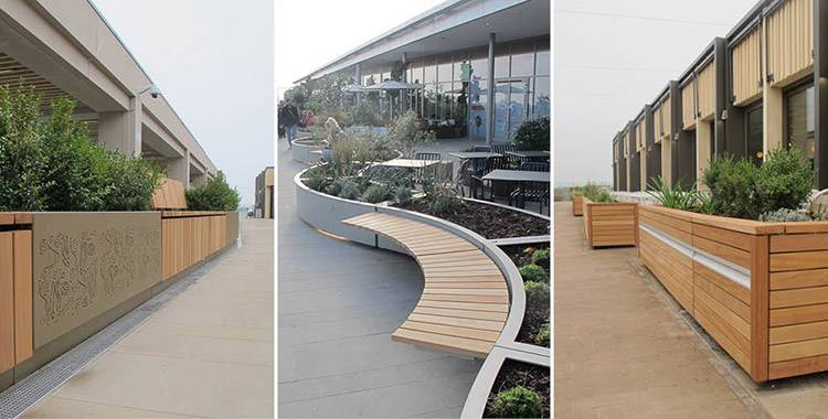 Bespoke seating and planters for redeveloped Westgate Oxford