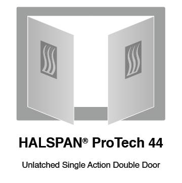 HALSPAN® ProTech 44m Interior Grade Door Blanks - Unlatched Single Acting Double Doors