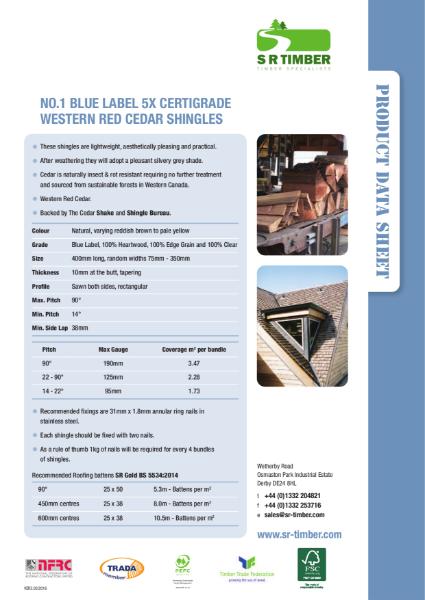 Cedar Shingles Data Sheet