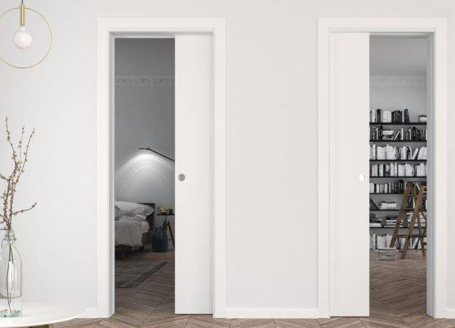 Unilateral Two Single Pocket Doors into the same Pocket