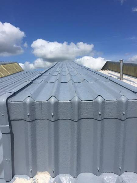 Asbestos roof refurbishment coating in Preston