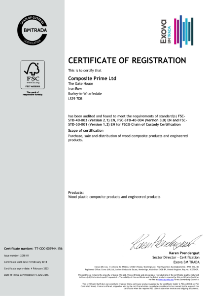 FSC CERTIFICATE OF REGISTRATION