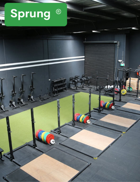 Sprung Gym Flooring Products