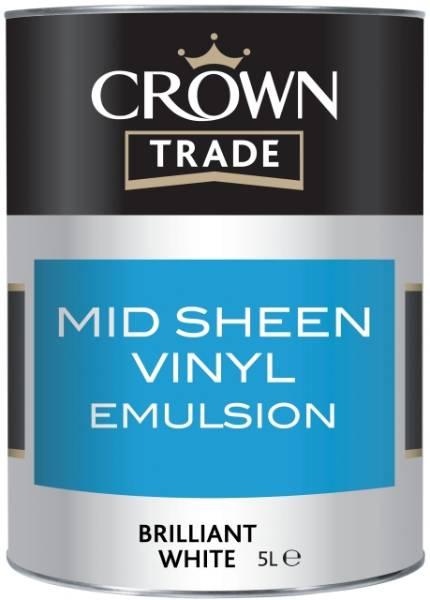 Crown Trade Mid Sheen Vinyl Emulsion