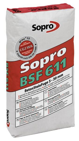 Sopro BSF 611 Paving Grout for Concrete Units