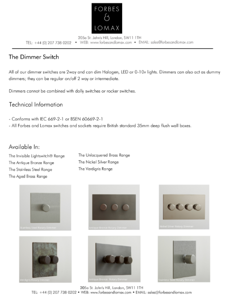 The Dimmer Switch