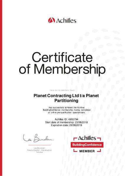 Achilles Certificate of Membership Exp 29 08 19