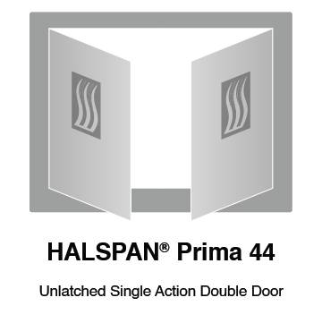 HALSPAN® Prima 44 mm Internal Fire Rated Door Blank - Unlatched Single Acting Double Doors