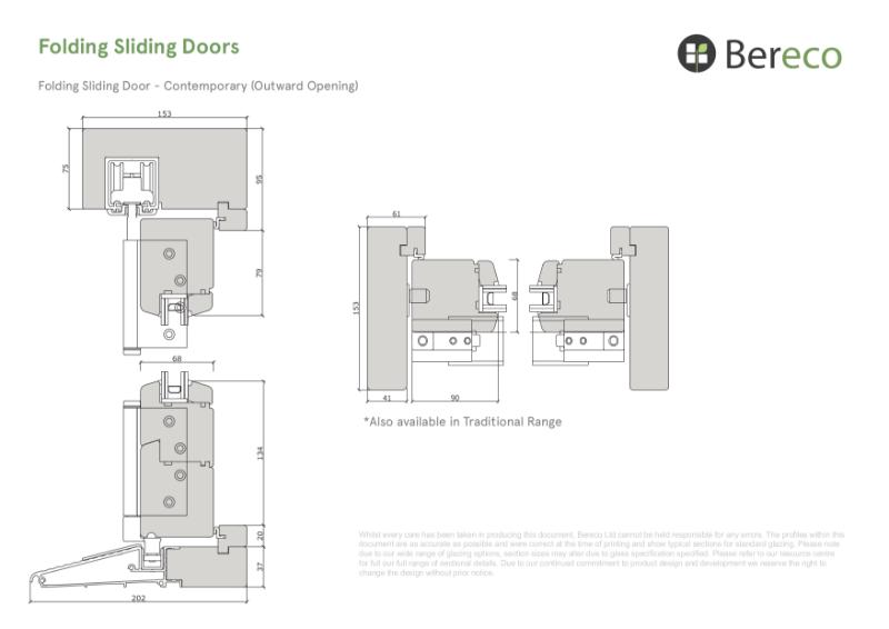 Bereco Folding Sliding Doors Sections