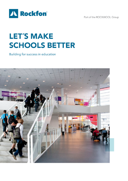Rockfon Acoustic Ceilings and Walls for Education Buildings
