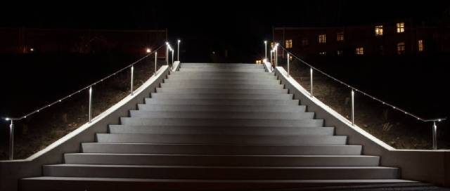 ASF LED Spotlight Illuminated Stainless Steel Handrail