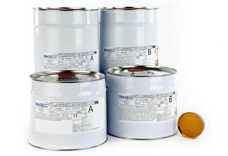TRADECC PC Leakinject 2K Flex 6811 LV - Flexible Sealing Polyurethane Injection Resin