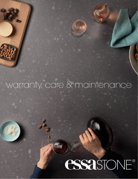 Essastone Warranty Care Maintenance Card 2016