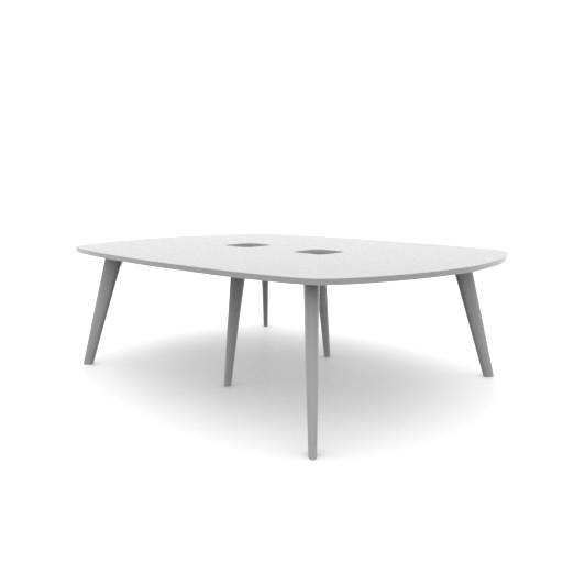 Pailo Boat Shaped Table With Cut Out For Power UK: PLBMT2418-AB