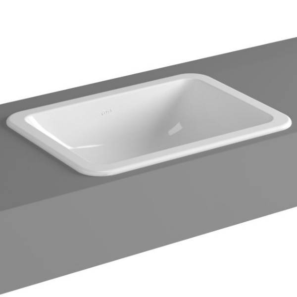 VitrA S20 Counter-top Basin, 50 cm, Square, 5474