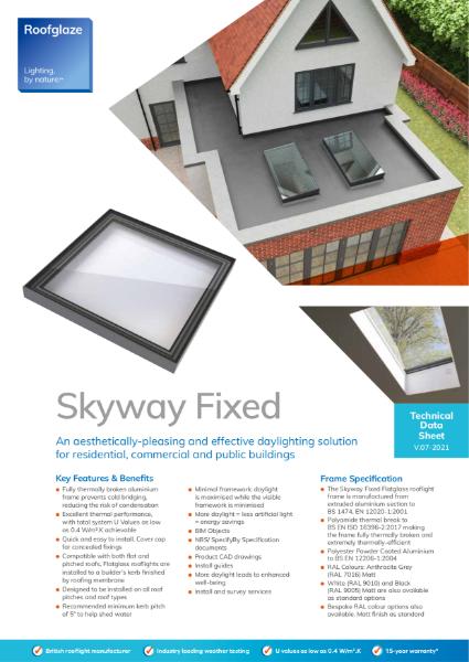 Flatglass Fixed Rooflight