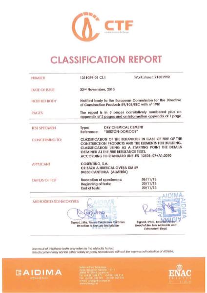[DK] fire classification A1 (EN)