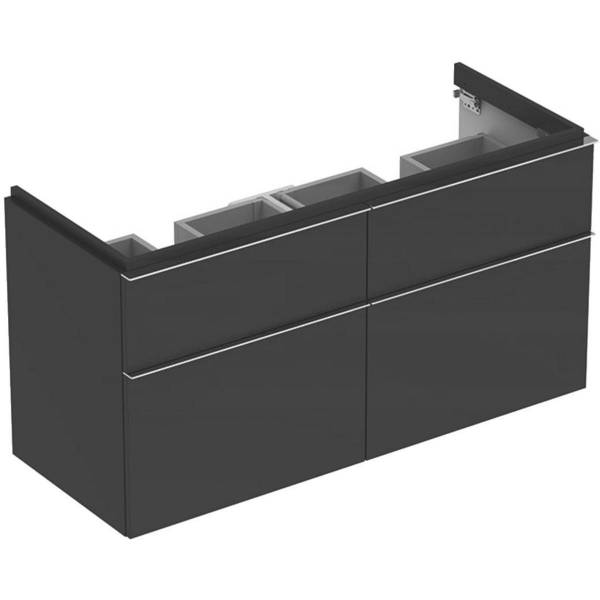 iCon cabinet for double washbasin, with four drawers