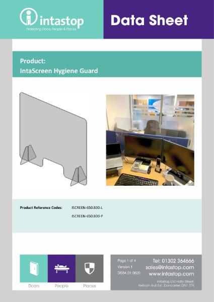 IntaScreen Hygiene Guard Datasheet