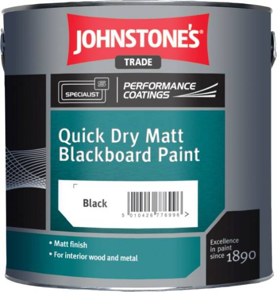 Quick Dry Matt Blackboard Paint