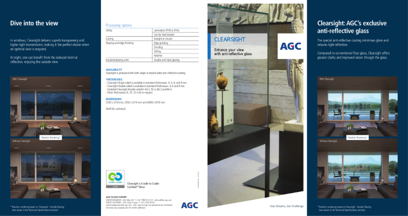 Clearsight, anti-reflective glass by AGC