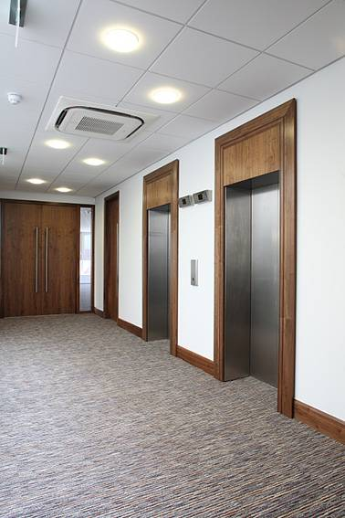 Forza fire doors and screens suited with Forza veneer panels at Royalty House, Watford