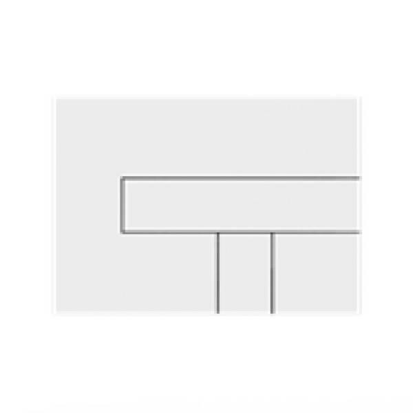 TRF0400L Multikwik Flush Plate - Telesto (White Base Plate and White Button Finish)