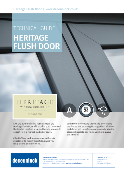 04. Heritage 2800 Flush Door Datasheet