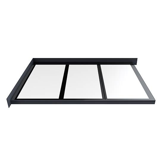 Flushglaze Multipart Rooflight - Two Wall Abutment