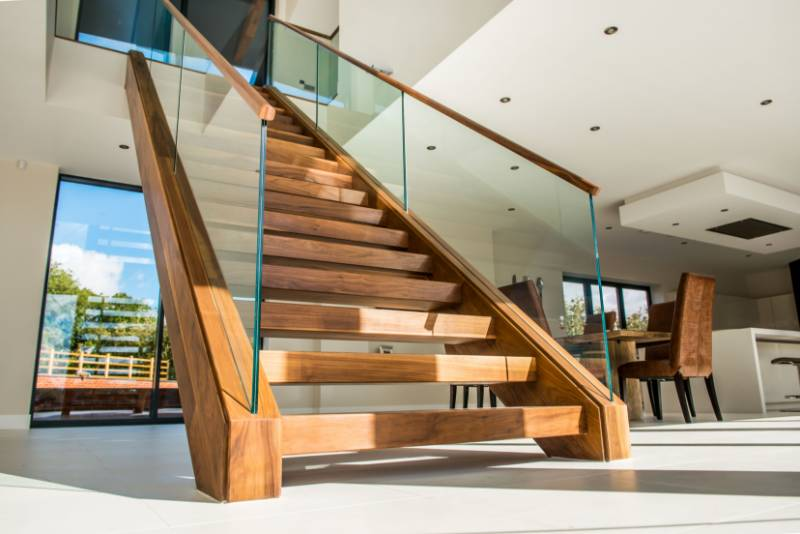 Super Prime Walnut Staircase, Louth