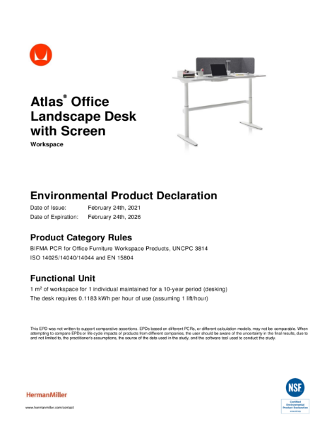 Atlas - Environmental Product Declaration