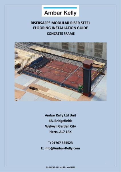 RiserSafe Modular Riser Steel Flooring - Installation Guide - Concrete Frame