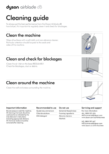 Cleaning guide - Dyson Airblade dB
