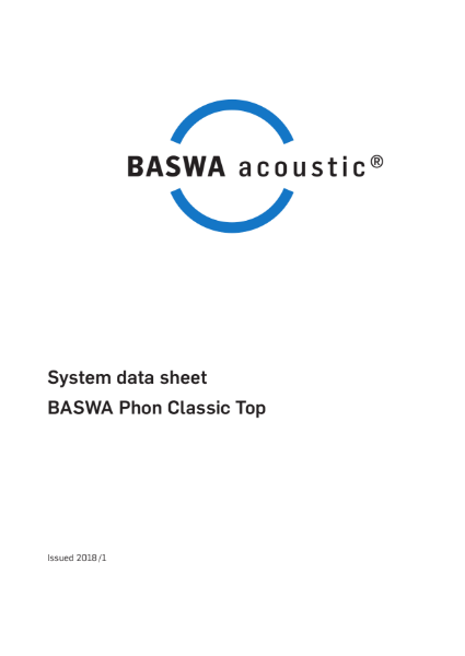 Smooth acoustic plaster ceiling -  BASWA Phon Classic Top