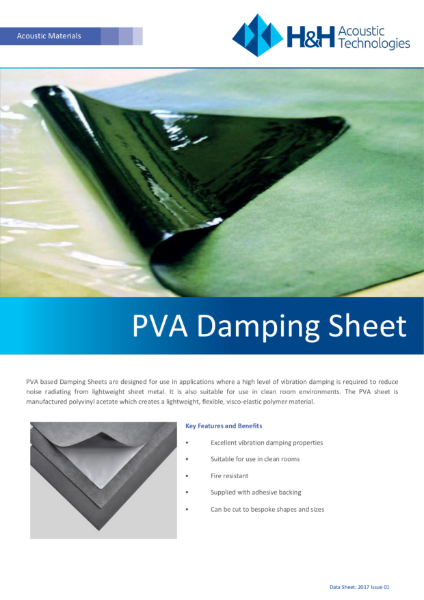 Acoustic PVA Damping sheet