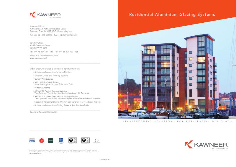 Kawneer Residential Aluminium Glazing Systems Brochure