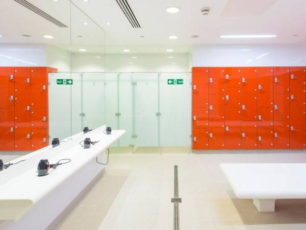 Marathon Glass Wet Area Lockers