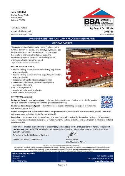 JUTA GP2 High Performance DPM  20/5728 - Product Sheet 6