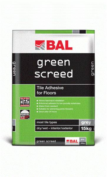 Green Screed - Tile adhesive