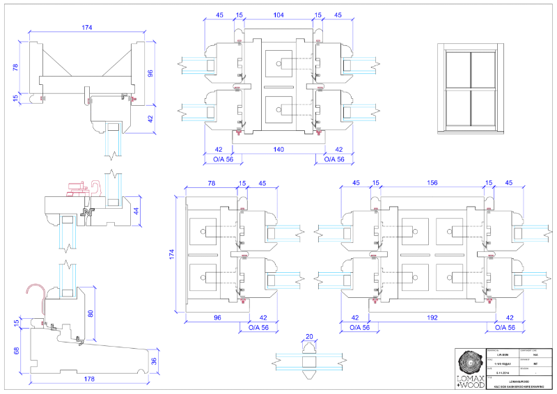 Box cords & weights sash window